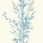 100/5022.CS Bamboo Blue On Ivory by Cole & Son
