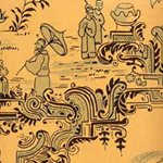 26302003.CS Chinese Paper Ochre/G by Cole & Son