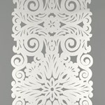 5003200 Graphic Panel Stripe Smoky Silver by FSchumacher