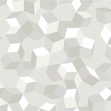 White On White Print Wallcovering by Cole & Son