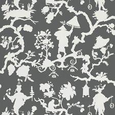 Smoke Wallcovering by F Schumacher Wallpaper